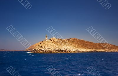 Lighthouse on cape Tainaro, southern Greece