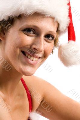 Flirting beautiful Christmas faerie