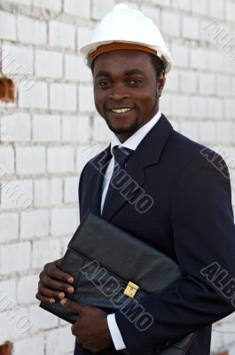 African american engineer outside