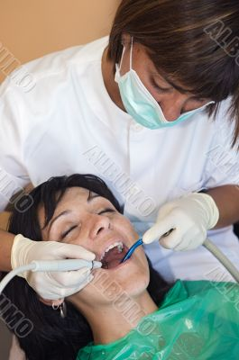 Consulting a dentist