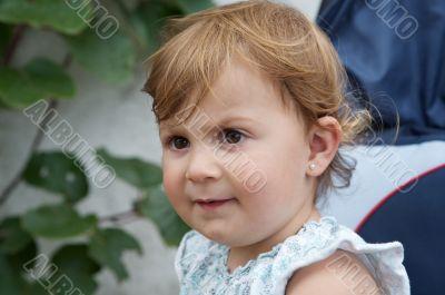 Beautiful blonde baby girl