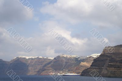 Aegean sea, Santorini island