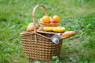Basket with goods