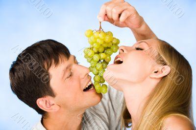 Appetizing grapes