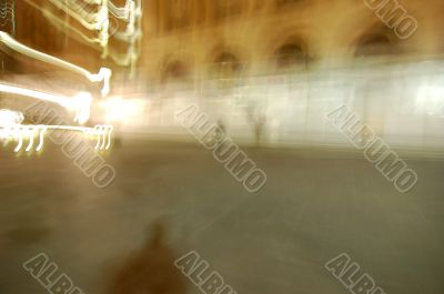 Background with blurred city