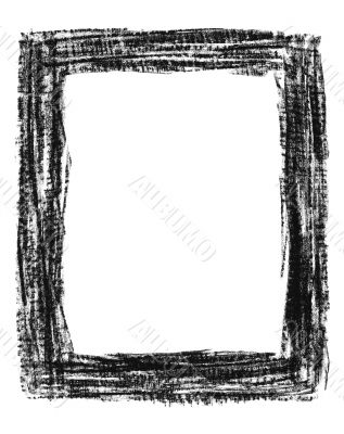 Hand-drawn black grunge frame