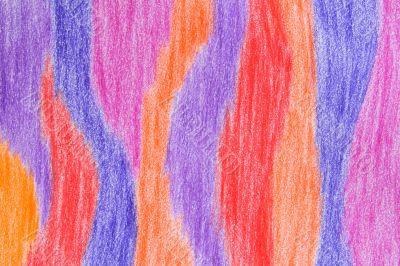 Hand-drawn crayon striped background