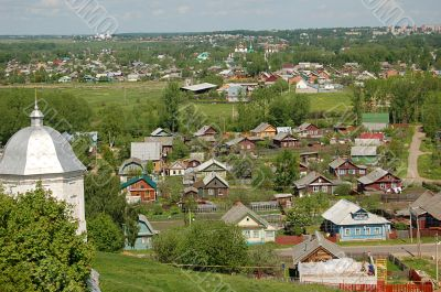Russian village view