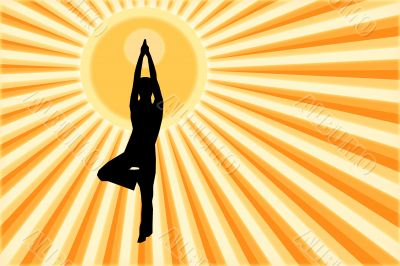 The person who is engaged in yoga