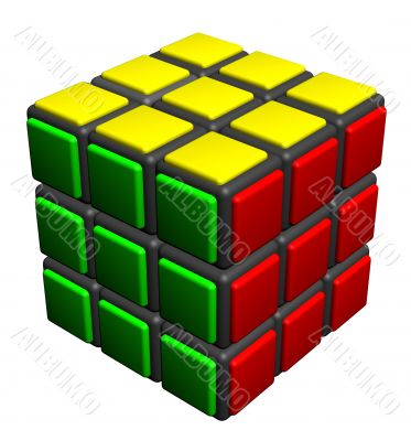 cube manycolored