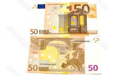 Euro bank-note close up