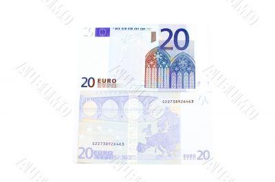 Euro bank-note closeup