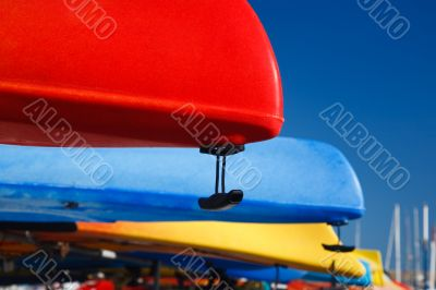 Canoes in a dock