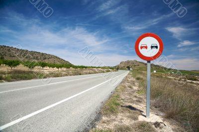 overtake forbidden