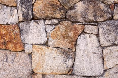 Photo of a plain stone wall