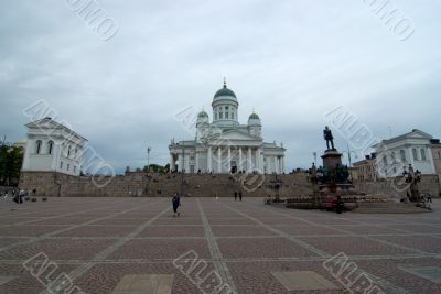 The cathedral area in Helsinki