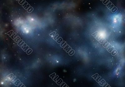 starfield with cosmic Nebula