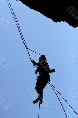man-climber & wall & ropes