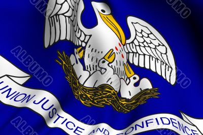 Rendered Louisiana Flag