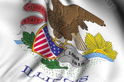 Rendered Illinois Flag