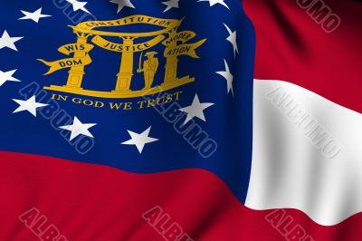 Rendered Georgia Flag