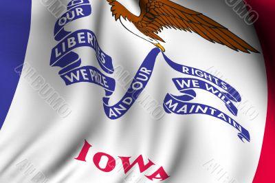 Rendered Iowa Flag