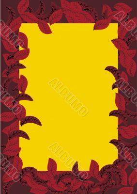 vector autumn leafs frame