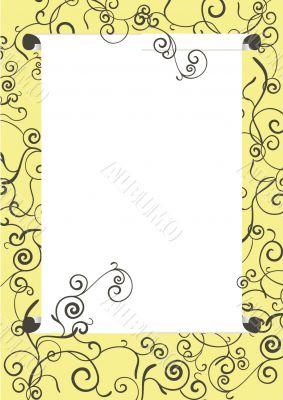 white scroll