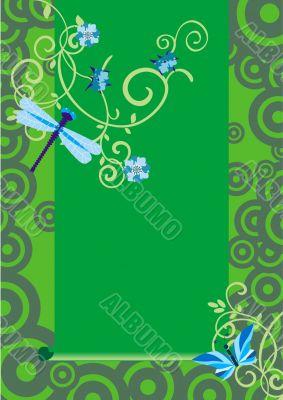 vector green nature dguronfly backdrop