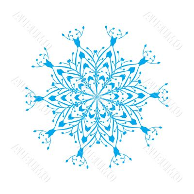 vector ornate snowflake