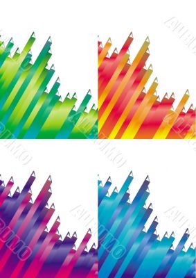 different color abstrakt backgrounds