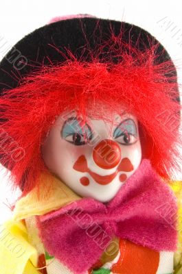 close up of a clowns face