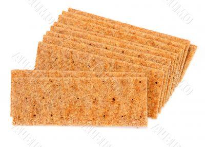 crisp bread on white