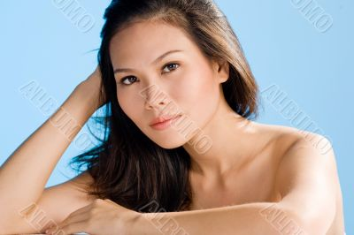 clean beauty asian woman