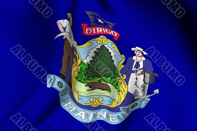 Rendered Maine Flag