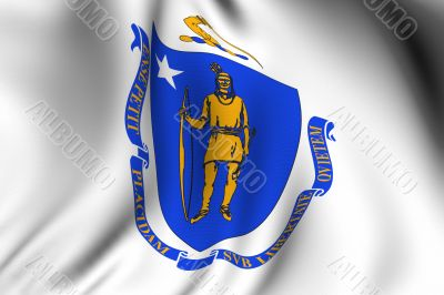 Rendered Massachusetts Flag