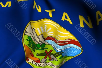 Rendered Montana Flag