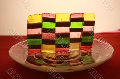Coloured sweets
