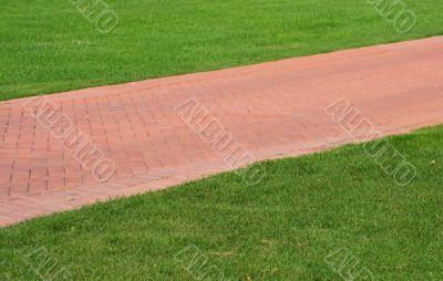 red brick footpath