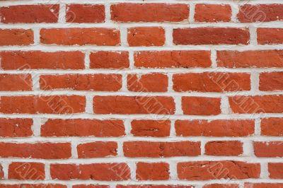 Red brick blocks wall