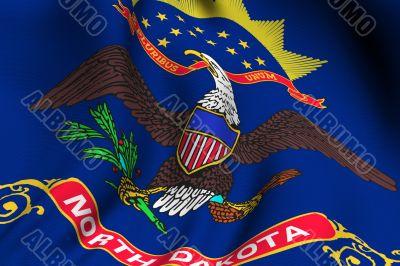 Rendered North Dakota Flag