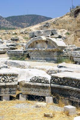 Ancient Ruins of Hierapolis. Pamukkale, Turkey.