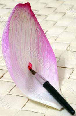 Lotus Petal Paint brush abstract