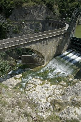 Hydroelectric plant in the Gorge of Furlo