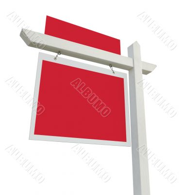 Blank Real Estate Sign