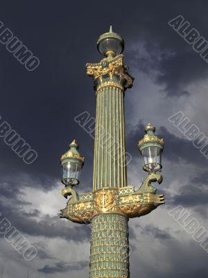Paris - outdoor golden post lamp