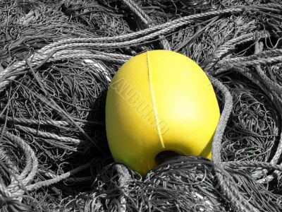 yellow buoy and ropes