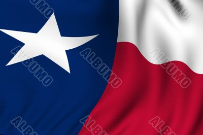 Rendered Texas Flag