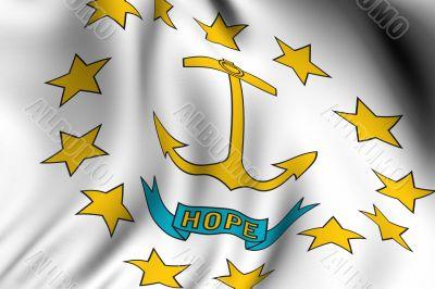 Rendered Rhode Island Flag