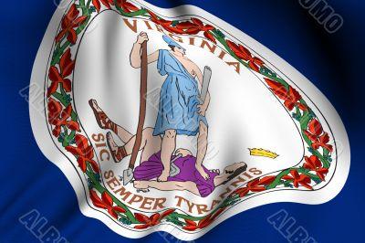 Rendered Virginia Flag